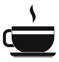Tea cup and saucer icon simple style vector