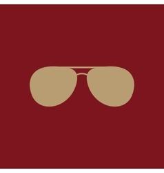 The sunglasses icon glasses symbol flat vector