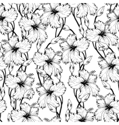 tropical Flowers in Sketch vector image vector image