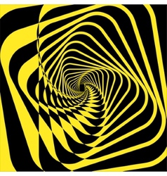 Turning yellow square frame abstraction vector