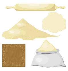 Dough flour vector