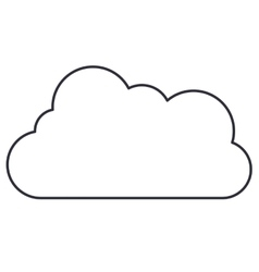 Cloud single isolated icon vector