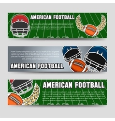 American football banners vector