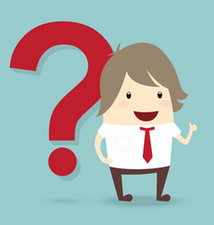 Popular businessman with red question mark vector