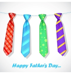 Tie in fathers day card vector