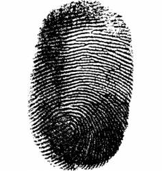 Fingerprint on white background vector