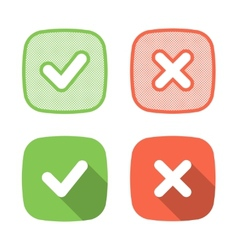 Trendy check mark icon for web or interface vector