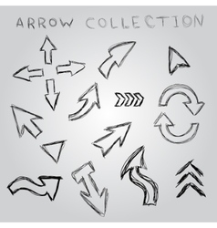 Arrow sketch collection element for you design vector