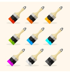 Brush rainbow set vector