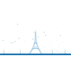 Outline eiffel tower vector
