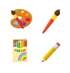 Artistic paints and pencils vector