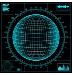 radar screen digital vector image