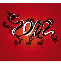 abstract new year dragon card vector image