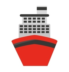cruise ship isolated icon design vector image