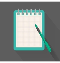 Agenda paper and pen for planning ones action list vector