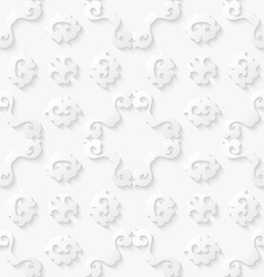 Abstract floral white background vector image vector image