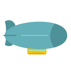 Blue retro dirigible icon isolated vector