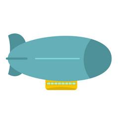 blue retro dirigible icon isolated vector image