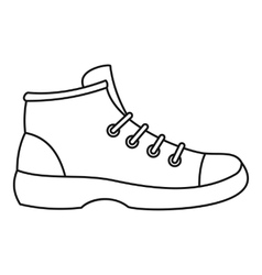 Boot icon outline style vector image