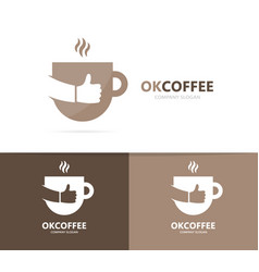 Coffee and like logo combination drink vector