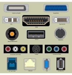 Computer port vector