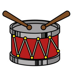 drum musical instrument icon vector image vector image