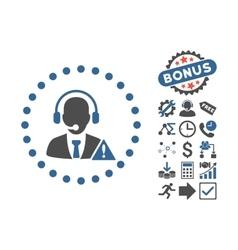 Emergency service flat icon with bonus vector