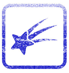 Falling star framed textured icon vector