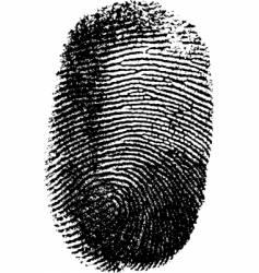fingerprint on white background vector image