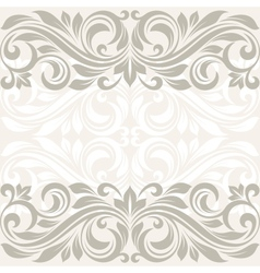 Floral border Abstract flower beckground vector image vector image