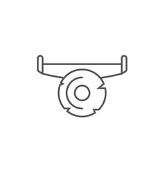 Hand saw icon in linear style vector
