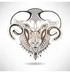 Head goat symbol of 2015 year vector