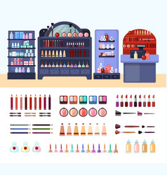 health and beauty store composition vector image vector image
