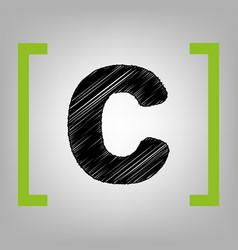 letter c sign design template element vector image vector image