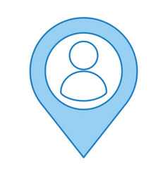 Location pointer with avatar user isolated icon vector