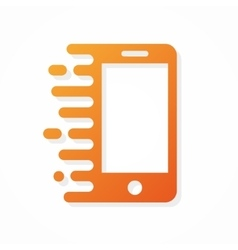 Logo phone in motion vector
