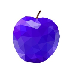 Low poly apple icon Purple vector image vector image