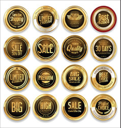 luxury retro badge and labels collection 06 vector image