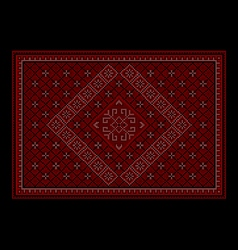 Maroon luxurious oriental carpet with ornament vector