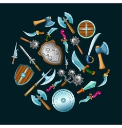 Medieval Weapon Set vector image vector image