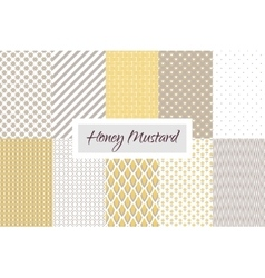 Mustard yellow and taupe geometric seamless vector image