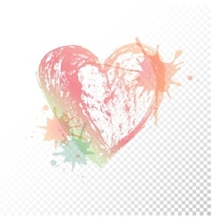 ombre print Watercolor heart vector image