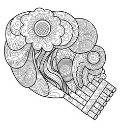 panpipe coloring book vector image