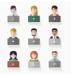 People avatars in flat style vector image vector image