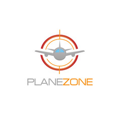 Plane zone logo vector