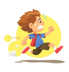 Running Late To School vector image vector image