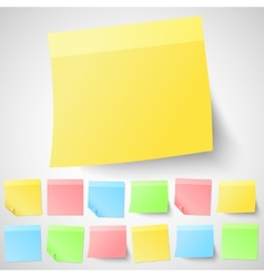 Set of isolated adhesive sticky notes Different vector image