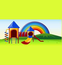 slide station in the park vector image
