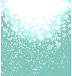 Snow on sky background Abstract Christmas and New vector image vector image