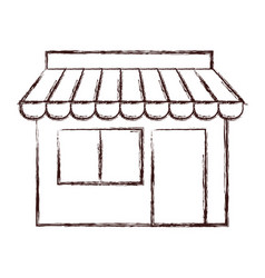 store building icon vector image vector image
